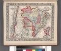 Map of Brazil, Bolivia, Paraguay, and Uruguay; Harbor of Rio Janeiro (inset); Harbor of Bahia (inset); Map of Chili; Island of Juan Fernandez (inset). NYPL1510826.tiff