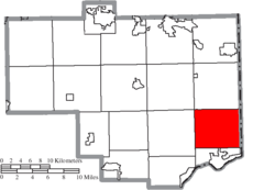 Location of St. Clair Township in Columbiana County