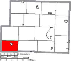 Location of Freeport Township in Harrison County