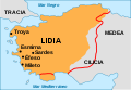 Map of Lydia ancient times-es.svg