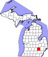 State map highlighting Livingston County