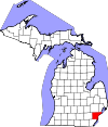 Wayne County map