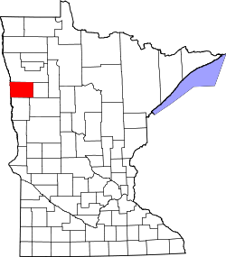 map of Minnesota highlighting Norman County