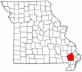 Map of Missouri highlighting Stoddard County.png
