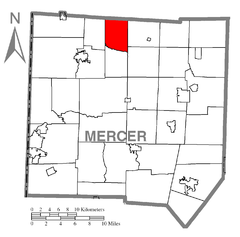 Map of Salem Township, Mercer County, Pennsylvania Highlighted.png