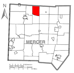 Location of Salem Township in Mercer County