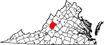 State map highlighting Rockbridge County