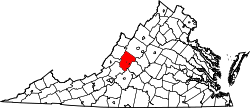Map of Virginia highlighting Rockbridge County.svg