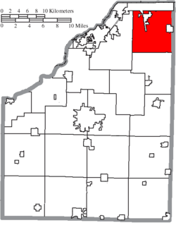 Location of Lake Township in Wood County