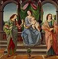 María con el niño, San Sebastián y San Juan Evangelista. Lorenzo di Credi.jpg