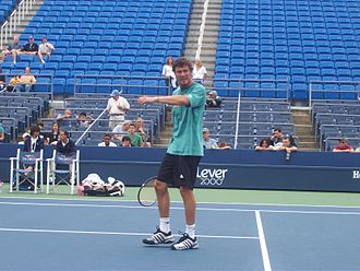 Marat Safin - Safin practicing at the 2007 US Open