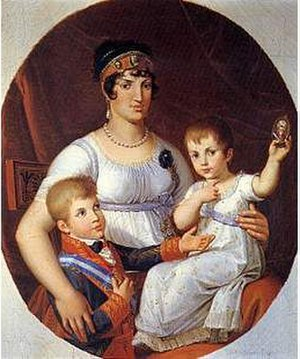Princess Maria Luisa Carlota of Parma - Maria with her mother and brother