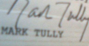 Mark Tully - Image: Mark Tully Autograph