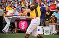 Mark Trumbo competes in semifinals of '16 T-Mobile -HRDerby. (28492221191).jpg