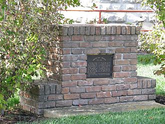 Uncle Dave Macon - Monmument composed of bricks from Macon's birthplace