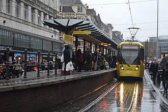 Market Street tram stop - Image: Market Street Station, N Chadwick, 5126366