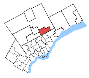 Markham—Unionville - Markham—Unionville in relation to other Greater Toronto ridings