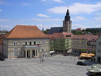 Sondershausen - look over the marketplace