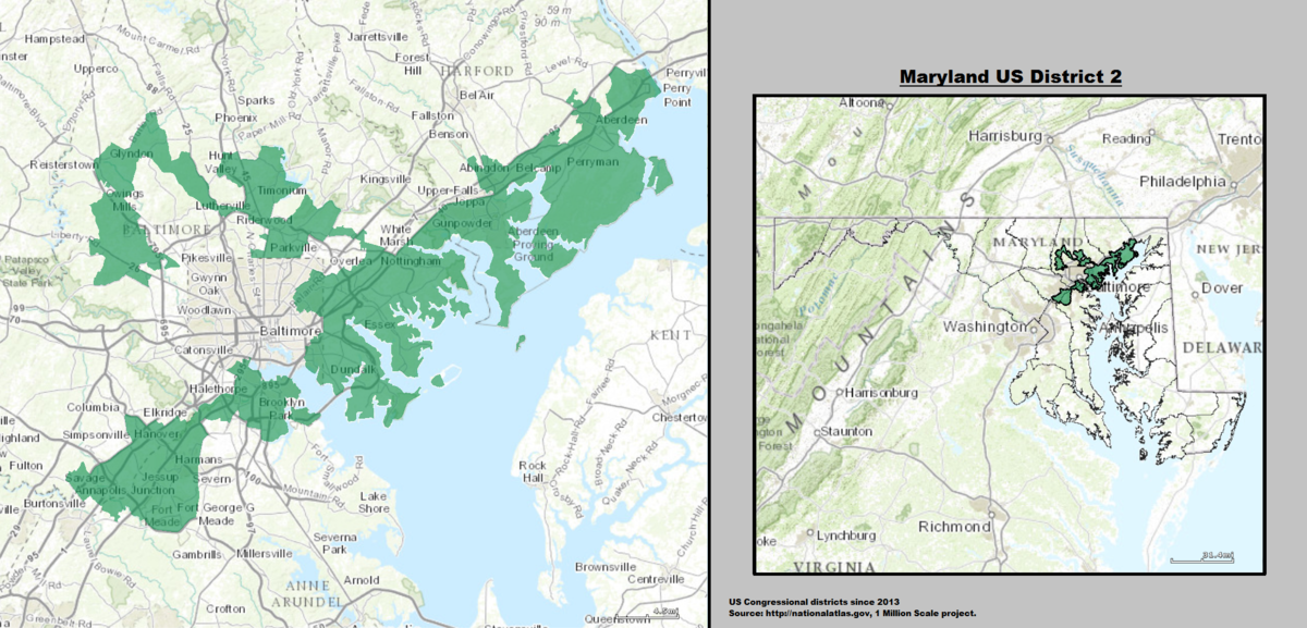 Marylands Nd Congressional District Wikipedia - Maryland on the us map