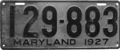 Maryland license plate, 1927.png