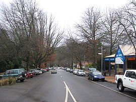The main street of MARYSVILLE in winter, before the fires of February ...