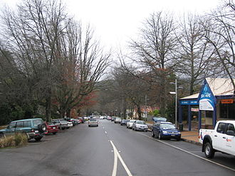 Marysville, Victoria - The main street of Marysville in winter, before the fires of February 2009.