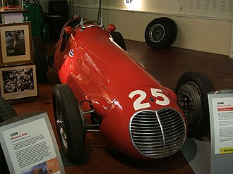 "Reg Parnell - An ex-Reg Parnell Maserati 4CLT ""San Remo"", in the Donington Collection museum, Leicestershire, England."
