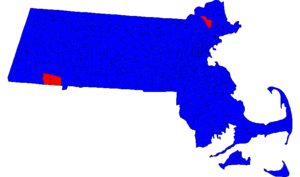 United States Senate election in Massachusetts, 2006 - Results by municipality