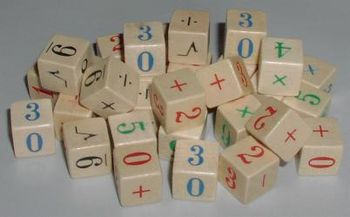 Math equation dice d6