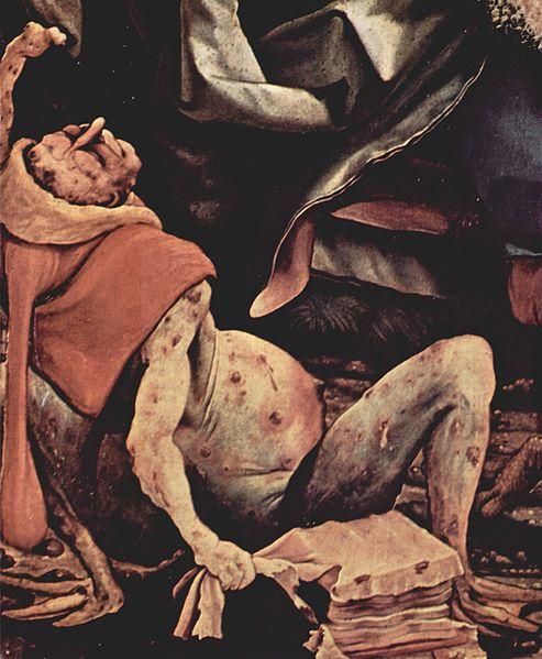 Detalle de la Tentación de San Antonio, obra de Matthias Grünewald, 1515