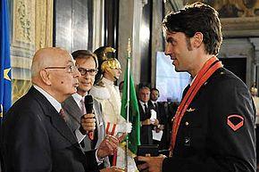 Tagliariol ricevuto dal presidente Napolitano
