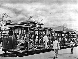 Trams in Mozambique circa 1920