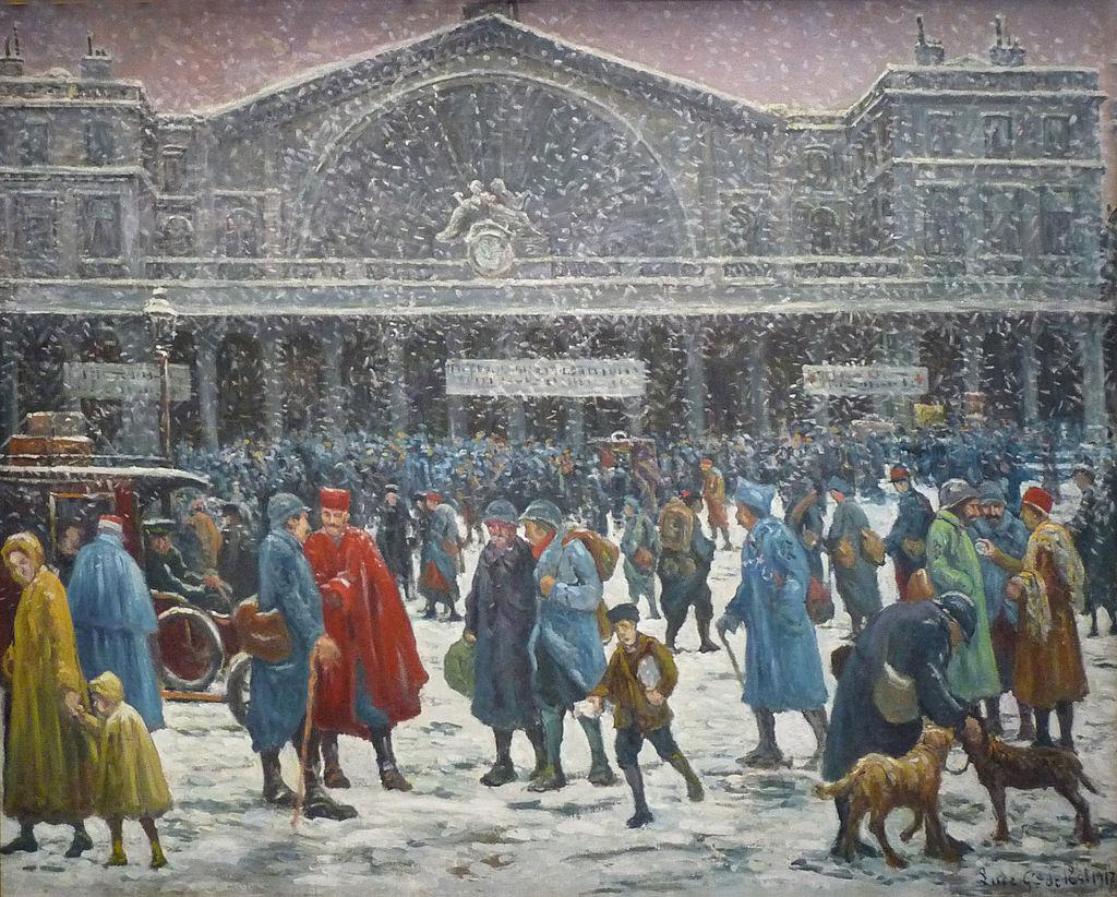 Maximilien Luce-La Gare de l'Est sous la neige-1917