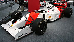 McLaren MP4/7A w muzeum Donington Grand Prix Collection