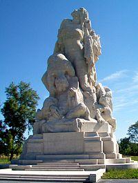Meaux (77), monument de la Liberté éploré (mémorial américain) 2.jpg