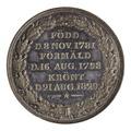 Medalj med eklövkrans, 1829 - Skoklosters slott - 100174.tif