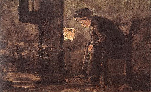 Mednyánszky, László - Man Seated by the Stove