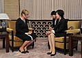 Meeting between Mrs. Akie ABE and Mrs. Maka CHICHUA, spouse of the President of Georgia (October 28, 2014) 02.jpg