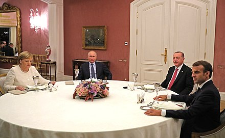 Working dinner between the leaders of Turkey, Germany, France and Russia in Istanbul Meeting between the leaders of Russia, Turkey, Germany and France.jpg