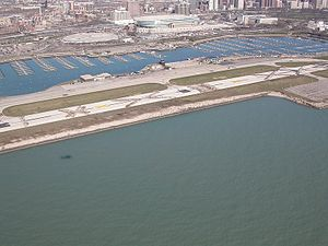Richard M. Daley - Meigs Field Runway a few days after destruction ordered by Mayor Daley