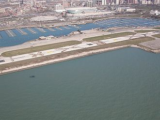 Meigs Field - Meigs Field Runway a few days after destruction ordered by Mayor Daley