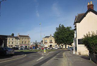 Melksham town on the River Avon in Wiltshire, England