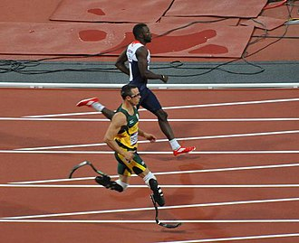 South Africa at the 2012 Summer Olympics - Oscar Pistorius becomes the first double leg amputee to compete at the Olympics.