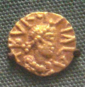 Bordeaux - Merovingian tremisses minted in Bordeaux by the Church of Saint-Étienne, late 6th century. British Museum.
