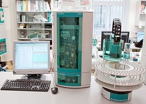 Column chromatography - An automated ion chromatography system.