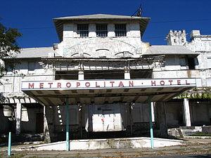 Metropolitan Hotel (Asbury Park) - South elevation of Metropolitan as it looked in September 2007.