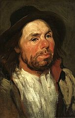 Portrait of a peasant in a hat (Sancho Panza?).