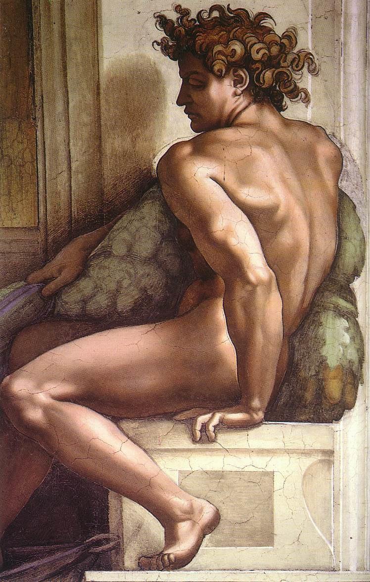 Michelangelo, ignudo 01