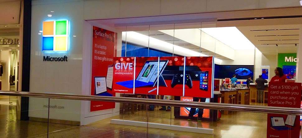 Microsoft Store Surface promotion