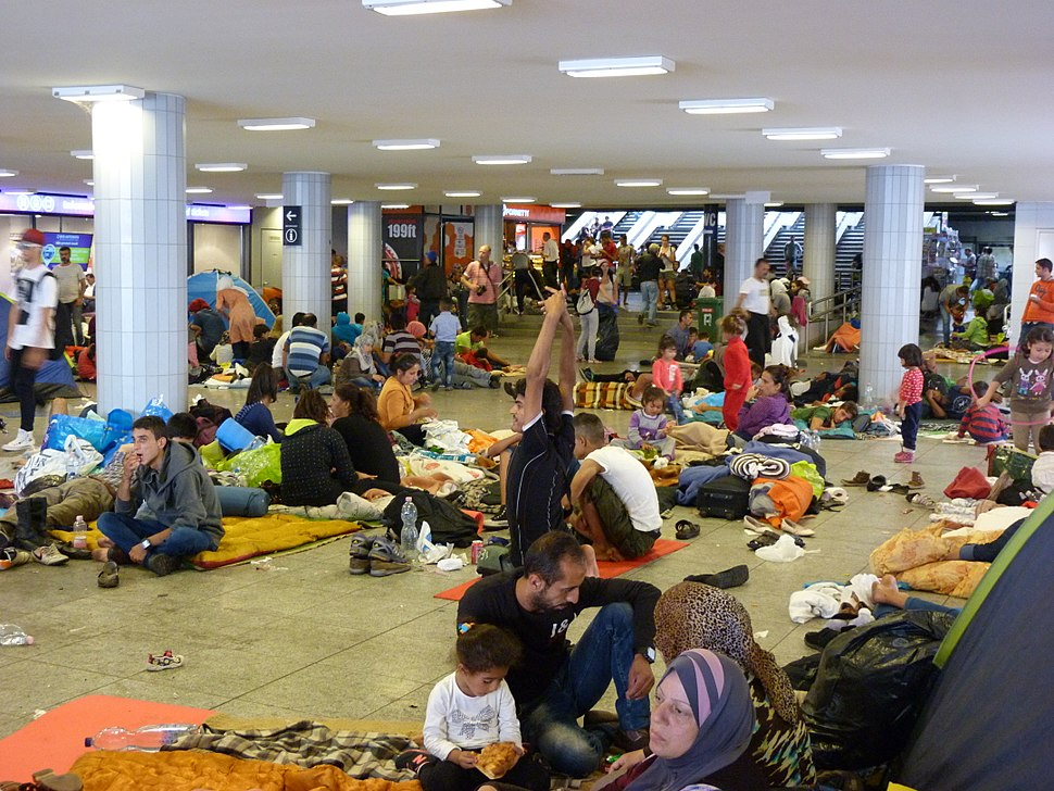Migrants at Eastern Railway Station - Keleti, 2015.09.04 (1)